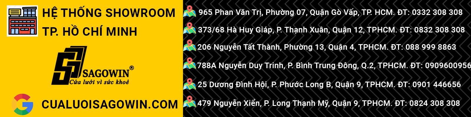 Hệ thống showroom cửa lưới chống muỗi TP. Hồ Chí Minh