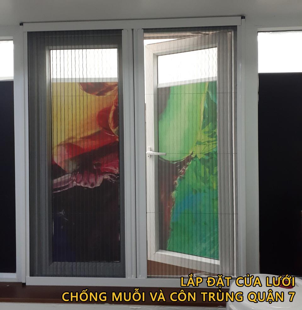 Ngăn muỗi và côn trùng bay vào nhà bằng cửa lưới chống muỗi Sagowin