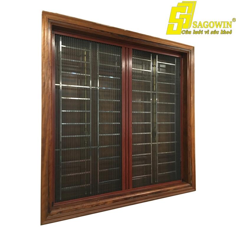 Cửa Lưới Chống Muỗi Hệ Xếp Có Ray 02 Cánh Sagowin 01 MSP SWB - LX2