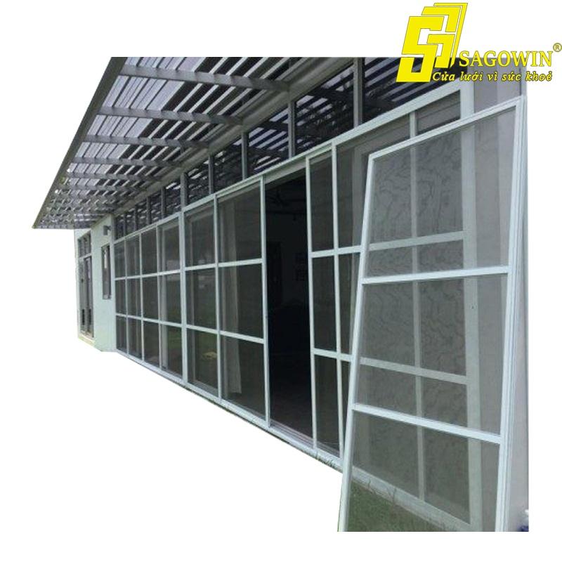 Cửa fix cố định lưới 304 chống cắt SD50